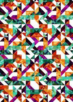 Aztec Geometric VI  by AJJ ▲ Angela Jane Johnston