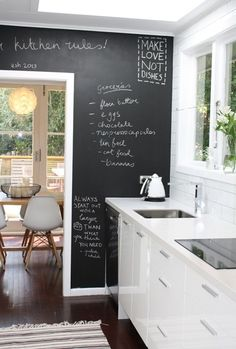Fantastic idea for the #kitchen! A place to keep recipes? #interior
