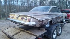 1961 Impala, Chevrolet Impala, Rusty Cars, Old Classic Cars, Abandoned Cars, American Muscle Cars, Barn Finds, Old Cars, Cars Motorcycles