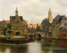 Jan Vermeer van Delft - View of Delft around 1660-61 (detail)