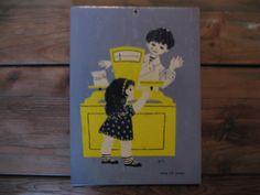 Overige - Leuk oud schoolplaatje karton...jaren 50 - Een uniek product van AntiquesArts op DaWanda