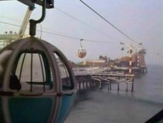 The sky tram at Pacific Ocean Park in Santa Monica - POP