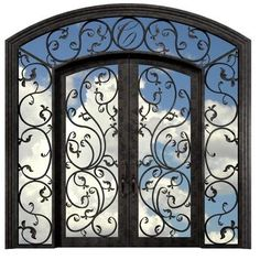 Country Entrance Door from Beveled Glass Works, Model: Botanical Gardens