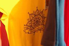 Mandala organic fairtrade t-shirt by Kunda. #tshirts #organictshirts #fairtrade #organiccotton #etsy #etsygreekstreetteam #ethicalfashion #mandala #yoga #india #spirituality #yellow #EtsyGifts