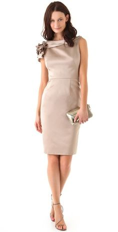 absolutely adore this bridesmaid dress style. gorgeous champagne color too!