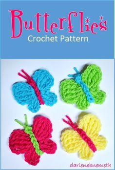 Butterflies - Crochet Pattern for Beginners