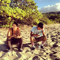 "The dynamic duo of KevJumba and Justin Chon couldn't have picked a more perfect spot to soak up some sun while catching those ""inspirational waves"" for their upcoming movie!"