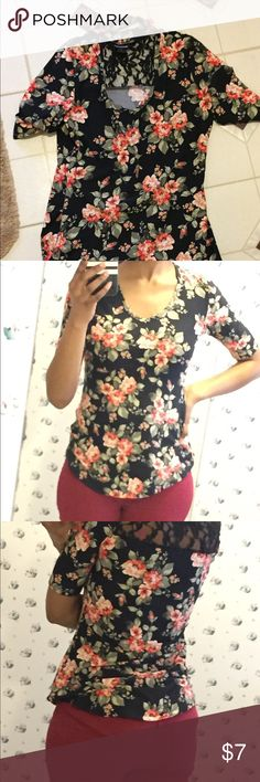 Beautiful floral top Beautiful floral top with chocker neckline and lace back. Gently worn but in excellent condition Tops