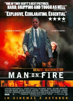 Man on Fire posters for sale online. Buy Man on Fire movie posters from Movie Poster Shop. We're your movie poster source for new releases and vintage movie posters. Denzel Washington, Fire Movie, Movie Tv, Rachel Ticotin, Llamas, Cinema 8, Really Good Movies, Awesome Movies, Classic Film Noir