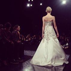 A Naeem Khan wedding gown. @Elizabeth Holmes says everything about it is bridal. #naeem #nyfw #wsj