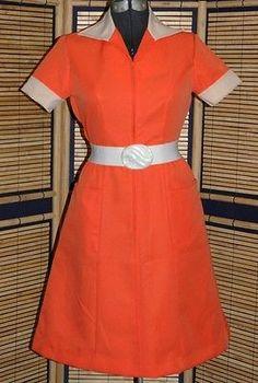 Vintage Diner Car Hop Waitress Maid Uniform PinUp Bombshell Rockabilly Dress 1950s 60s