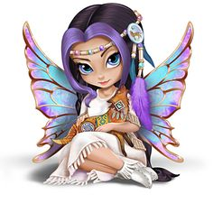 The Hamilton Collection Jasmine Becket-Griffith Mystical Maiden Fairy Figurine with Laurie Prindle Art Fairy Pictures, Cute Pictures, Fantasy Kunst, Fantasy Art, Cute Fairy, Gothic Fairy, Fairy Figurines, Beautiful Fairies, Fairy Art