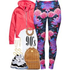 A fashion look from October 2014 featuring t shirts, H&M and floral print trousers. Browse and shop related looks.