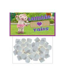 Doc Mcstuffins party favors - Lambie tails. Mini marshmallows