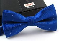 bow tie men100pcs highlight dot silver wedding Polyester silk bowtie blue necktie fashion cravat gravata borboleta butterfly