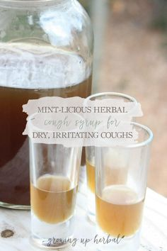 Mint-licious Herbal Cough Syrup Recipe | GrowingUpHerbal.com | A minty herbal cough syrup for dry, irritating coughs.