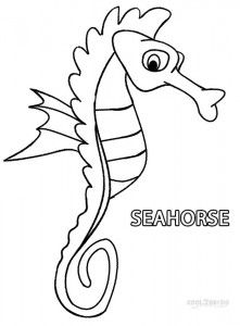 Seahorse Clipart  Sea and Ocean Animals Coloring Pages