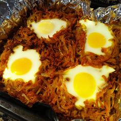 Baked Sweet Potato Hash with Eggs (Whole30 Friendly) | @dieffs