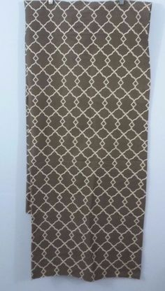 "New WAVERLY/ Home Chippendale Brown ROD POCKET Curtain FOUR PANELS 42""W 84""L #Waverly #Modern"