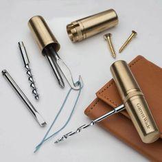Beautiful Brass Capsule EDC Multi-Tool by Garrett Wade