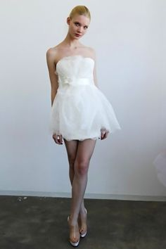 short and sweet Marchesa wedding dress