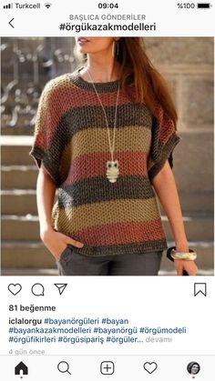 Crochet Top, Pullover, Sweaters, Tops, Women, Fashion, Tutorial Crochet, Tejidos, Moda