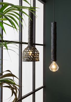 Dutchbone Tan pendant lamp is made of woven rattan | Available in natural and black | Combine Tan with an unique light bulb
