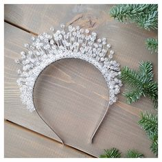 Image Article – Page 394416879859026876 Bridal Tiara, Headpiece Wedding, Bridal Headpieces, Fascinators, Hair Jewelry, Wedding Jewelry, Hair Beads, Beads And Wire, Bandeau
