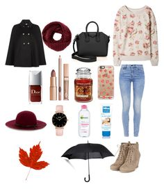 """""""Welcome Autumn"""" by milafashion-35 ❤ liked on Polyvore featuring G-Star, Givenchy, TOMS, Monsoon, Casetify, Yankee Candle, Garnier, Fulton, Warehouse and women's clothing"""