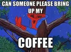 Spiderman likes Coffee