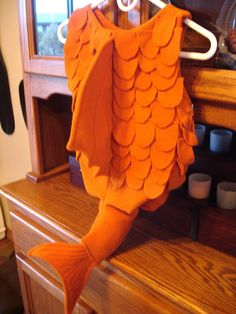 a last minute costume choice for my three-year-old was an orange fish. orange. no other colors, just orange. given that i had a week, of co...