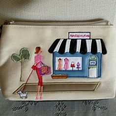 Small Canvas Bag - Multi-functional - Very clean Can be used for weekend errands or as a make-up bag. No straps. Bags Clutches & Wristlets