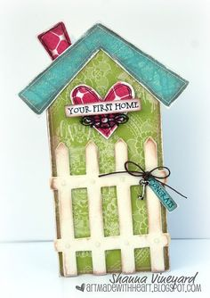 Your First Home Congrats house card with key by ShannaVineyard