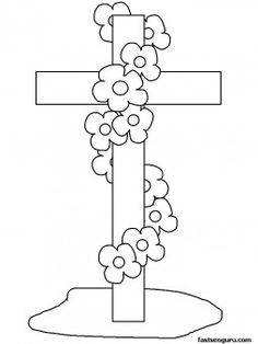 Good Friday Cross Coloring Activity. I printed this out for my daughters to color. While they colored, I told them stories of Jesus. Great intro for toddlers into the meaning behind the cross.