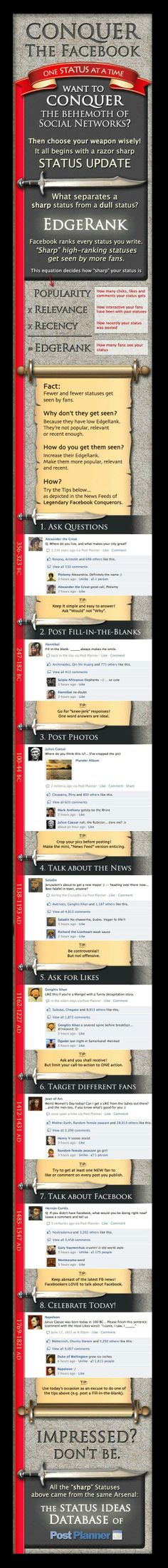 8 tips for improving your Facebook EdgeRank