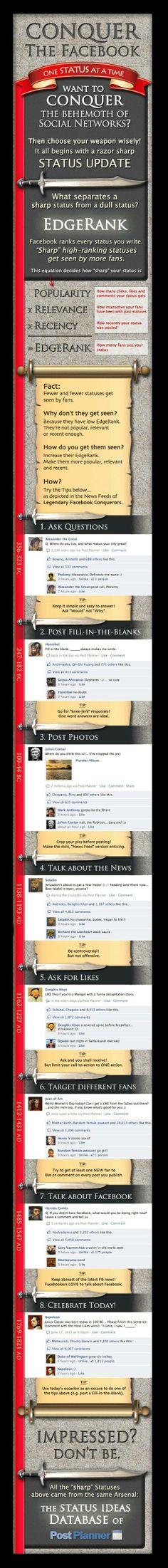 Improving Facebook Edgerank Infographic