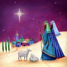 Star Of Bethlehem, Infancy, Christmas Inspiration, Tis The Season, Beautiful Christmas, Oakley, Whimsical, Illustration, British Artists
