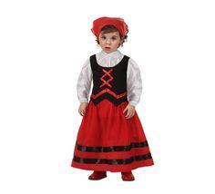 Disfraz de Pastora rojo y negro para bebés