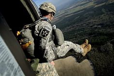 March 20: US Army Maj. Stewart Brown, 55th Signal Company, jumps from a UH-60 Black Hawk from 1st Battalion, 171st Aviation Regiment during airborne operations at Plantation Airpark, in Sylvania, Georgia. Operation Skyfall is a joint, multilateral combat-camera subject-matter expert exchange hosted by the 982nd Combat Camera Company, which takes place at multiple locations in Georgia.