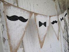 Foto de Banderines de tela arpillera o de saco para la decoración: