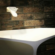MyBath Silence standing washbasin designed by Mac Stopa www. Washbasin Design, Design Research, Corian, Solid Surface, Bathroom Designs, Modern Bathroom, Mac, Interior Design, Luxury