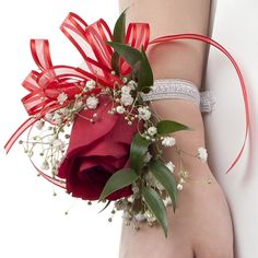 Everlasting Smile - Red Rose Corsage | Wholesale Red Rose Corsages | Buy Red Rose Corsages | Discount Red Rose Corsages at BunchesDirect