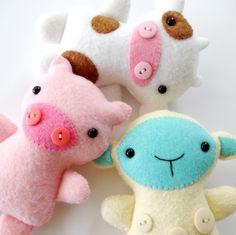 Softies animales de la granja modelo de coser  por preciouspatterns
