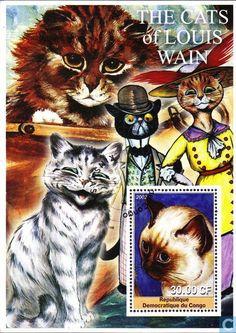 Postage Stamps - Congo-Kinshasa [COD] - Cats
