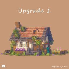 Minecraft Building Guide, Minecraft Farm, Minecraft Cottage, Cute Minecraft Houses, Minecraft Plans, Minecraft House Designs, Minecraft Survival, Minecraft Construction, Amazing Minecraft