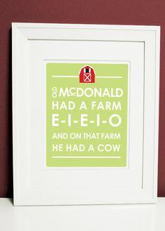 farm sign ...for J man's room.