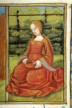 Psalter France, Paris, between 1495 and 1498 MS fol. Virgo Art, Zodiac Art, Medieval Life, Medieval Art, Medieval Manuscript, Illuminated Manuscript, 15th Century Clothing, Traditional Artwork, Book Of Hours
