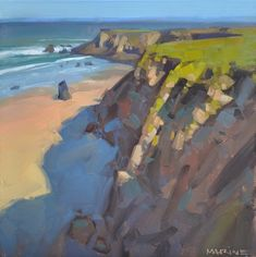 Carol Marine's Painting a Day: Cliff Shadows