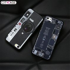 CITYCASE Phone Bag Case For IPhone 5 5c 5s SE Retro Pretend Camera For iPhone 5S Case Cover Coque Silicone Soft Edge Shockproof