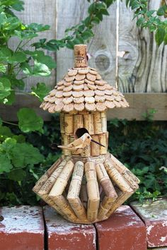 Cork Birdhouse with base